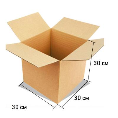 Картонная коробка 30*30*30 см