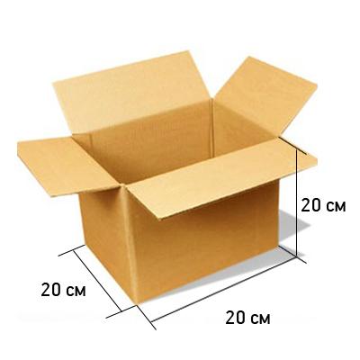 Картонная коробка 20*20*20см