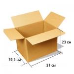 Картонная коробка 31*23*19,5 см